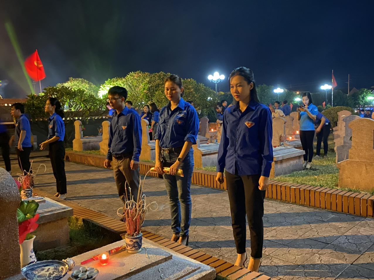 Chi đoàn Cục QLTT tỉnh Hà Tĩnh tổ chức các hoạt động nhân kỷ niệm 73 năm ngày thương binh, liệt sĩ (27/7/1947-27/2020)